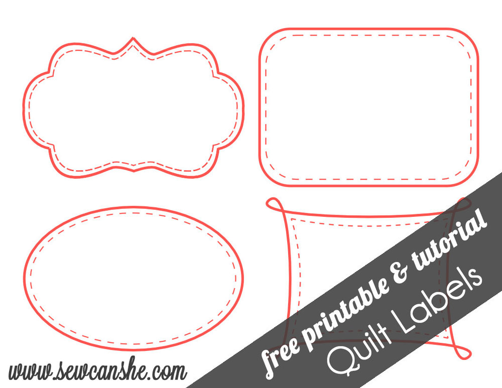 Quilt Label Templates : Quilt Labels! {free printable} SewCanShe Free Daily Sewing Tutorials