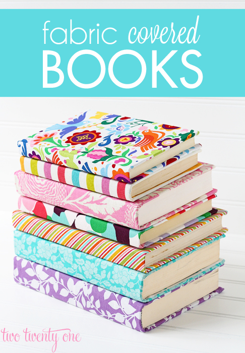 Fabric Covered Books from Two Twenty One