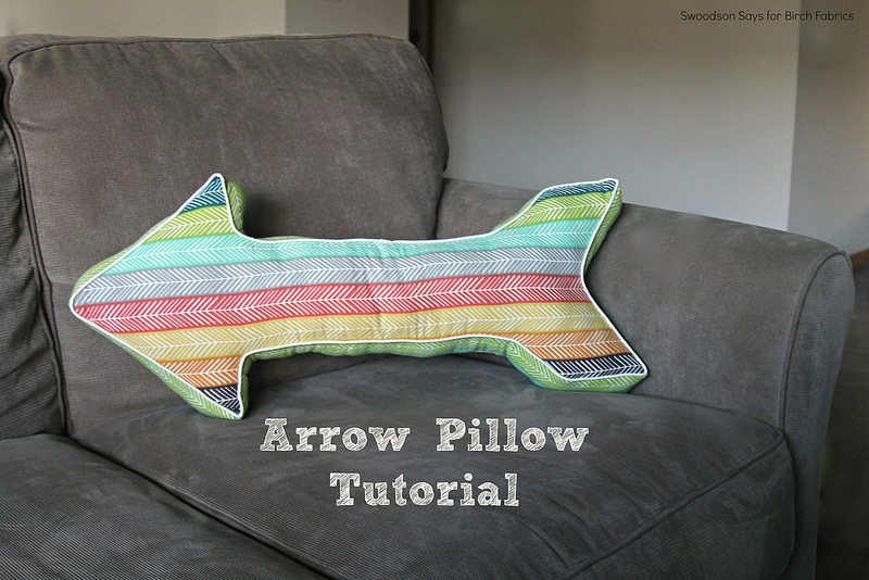 DIY Arrow Pillow Tutorial for Birch Fabrics from Swodson Says