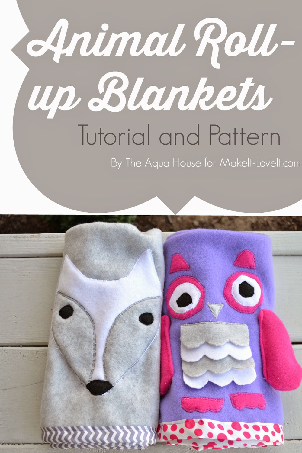 DIY Animal Roll-Up Blankets from Make It and Love It