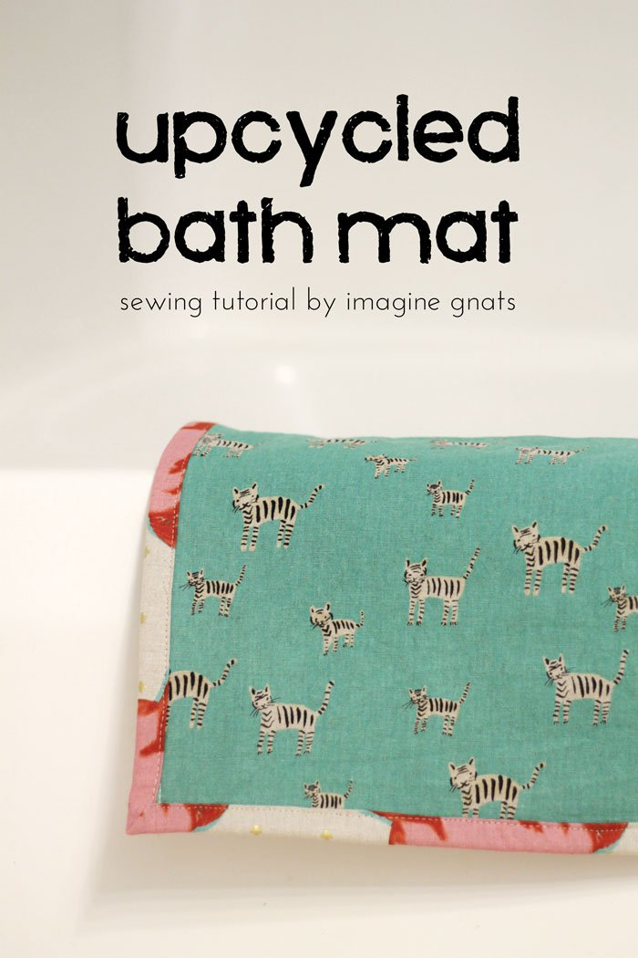 upcycled bath mat tutorial From Imagine Gnat