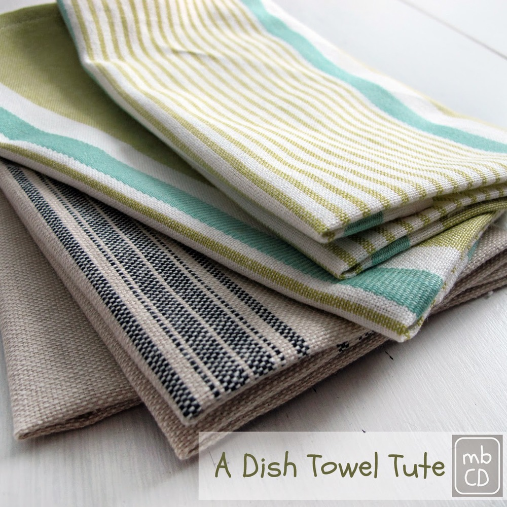 Super Easy & Fast Make - A Dish Towel Tutorial from Made By Chrissey D.