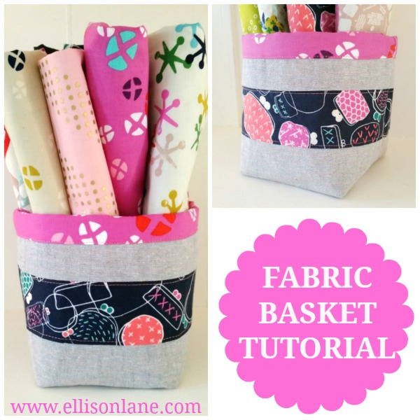 Fabric Bucket Tutorial from Ellison Lane