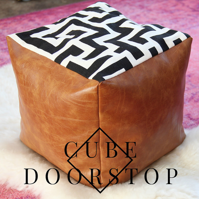HOW TO MAKE A CUBE DOORSTOP POUF from Kristina J.