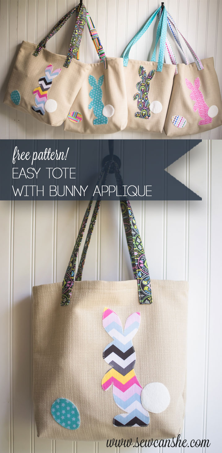 Egg finding bags free easy tote pattern with bunny applique egg finding bags free easy tote pattern with bunny applique sewcanshe free sewing patterns for beginners publicscrutiny Image collections