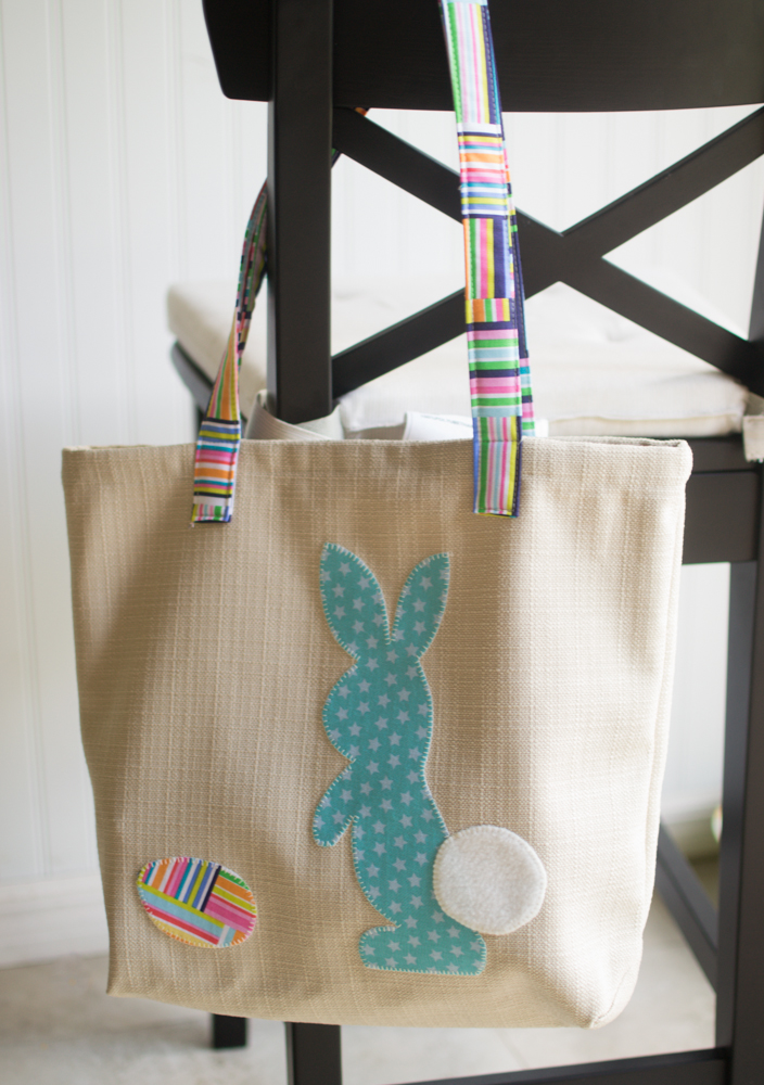 Egg Finding Bags Free Easy Tote Pattern With Bunny