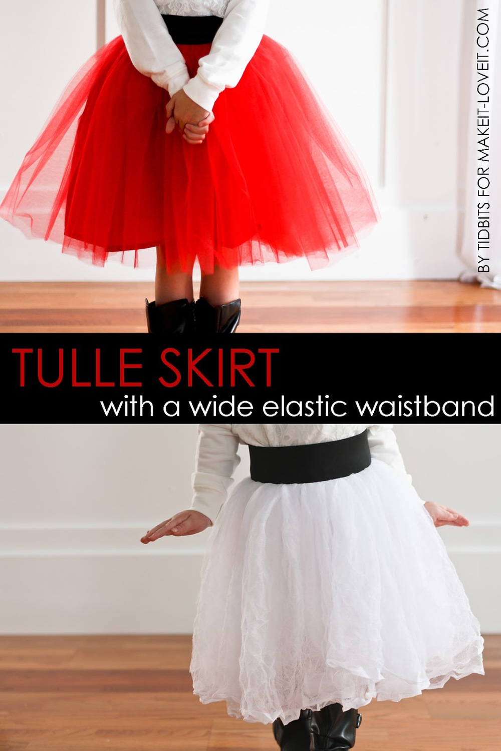 DIY Tulle Skirt…with Wide Elastic Waist Band from Make It & Love It