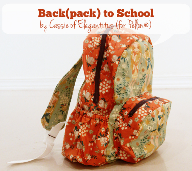 BACK) TO SCHOOL Back Pack from Pellon