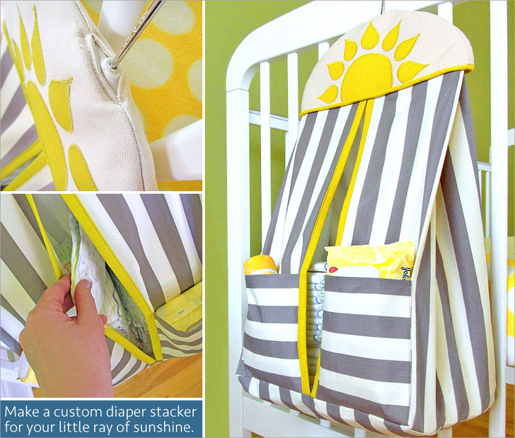 Hanging Diaper Stacker for the Nursery from Sew 4 Home