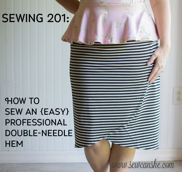 How to sew a with a Double Needle (almost any sewing machine ...