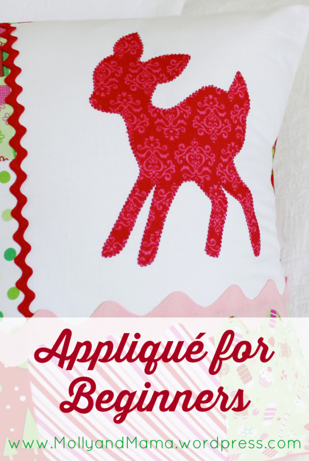 How To Applique – an Introduction to Raw Edge Applique from  Molly and Mama