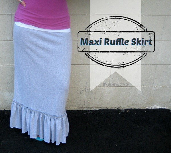 Ruffle Maxi Skirt from The Sewing Loft