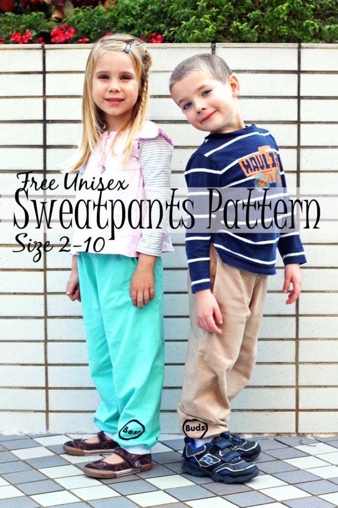 Free Unisex Sweatpants Pattern Size 2-10 from Nap Time Creations
