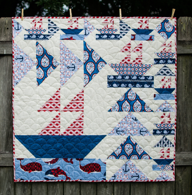 Show Off Saturday... Boys can sew too! — SewCanShe | Free Sewing ... : sailboat quilt pattern - Adamdwight.com