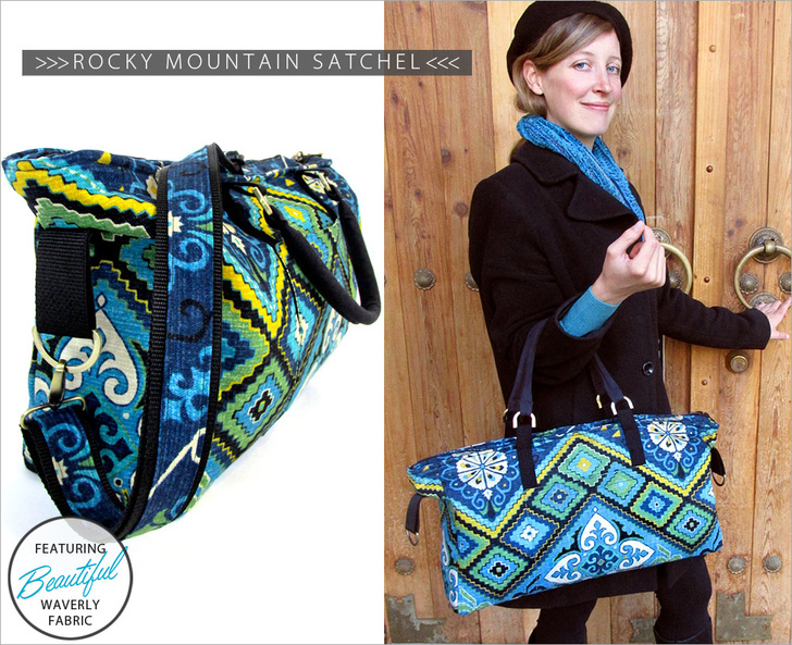 Rocky Mountain Satchel: Waverly World from Sew4Home