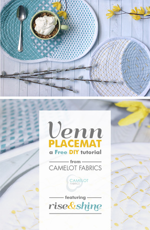 Venn Placemat DIY Tutorial from Camelot Fabrics