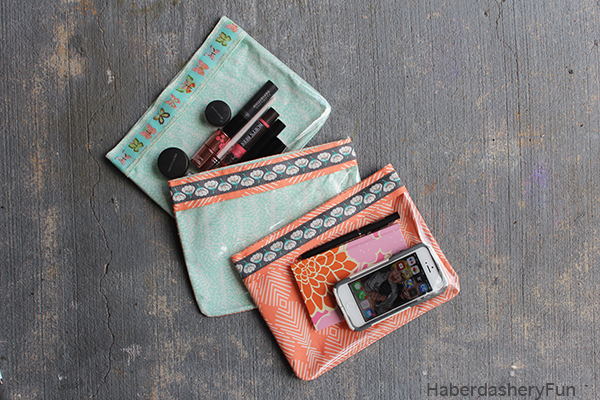VINYL & RIBBON POUCHES from Haberdashery Fun