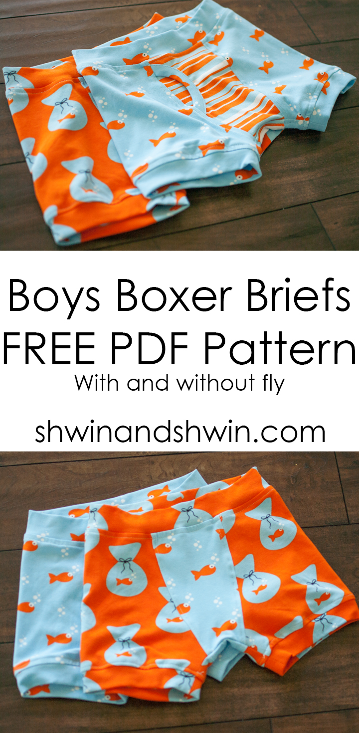 BOYS BOXER BRIEFS {FREE PDF PATTERN} from Schwin and Schwin