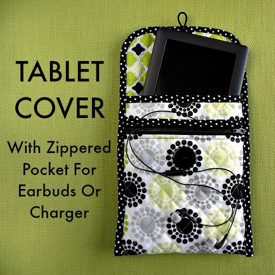 Sew a Quilted Tablet Cover With Zippered Pocket from So Sew Easy