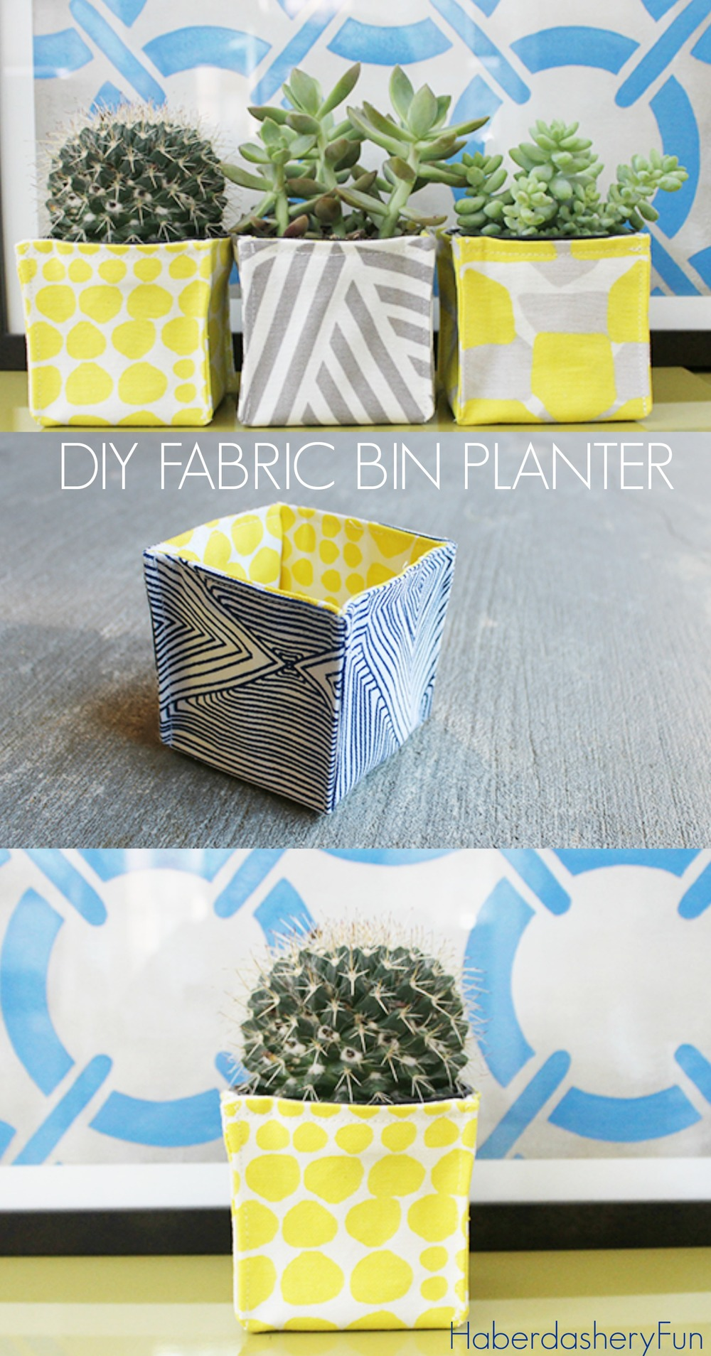 DIY Fabric Bin Planters