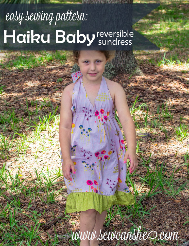 New Pattern The Haiku Baby Reversible Sundress Sewcanshe Free