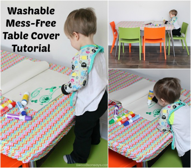 Washable, No-Mess, DIY Table Cover from Swoodson Says
