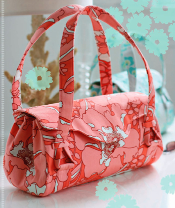 Free Amy Butler Pattern ~ Blossom Handbag/Shoulder Bag from Sew Mama Sew