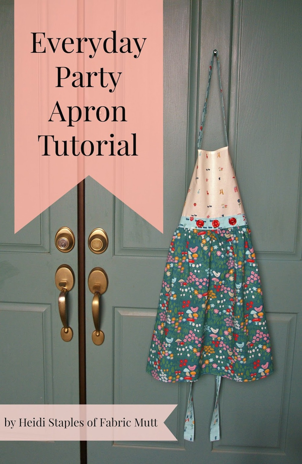 Everyday Party Apron from  birch fabrics