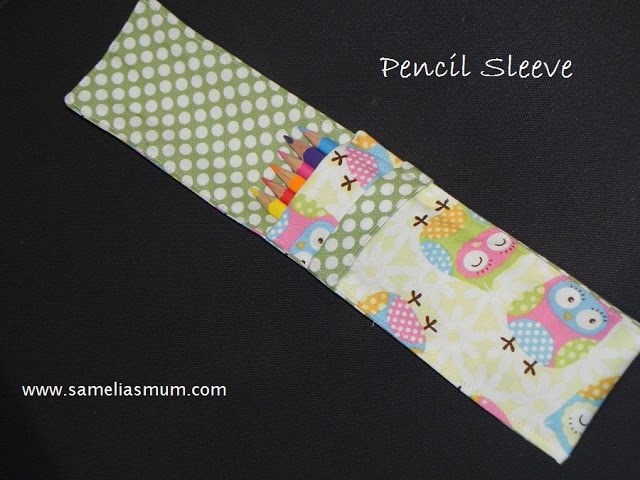 Pencil Sleeve {Tutorial} from Samelia's Mum
