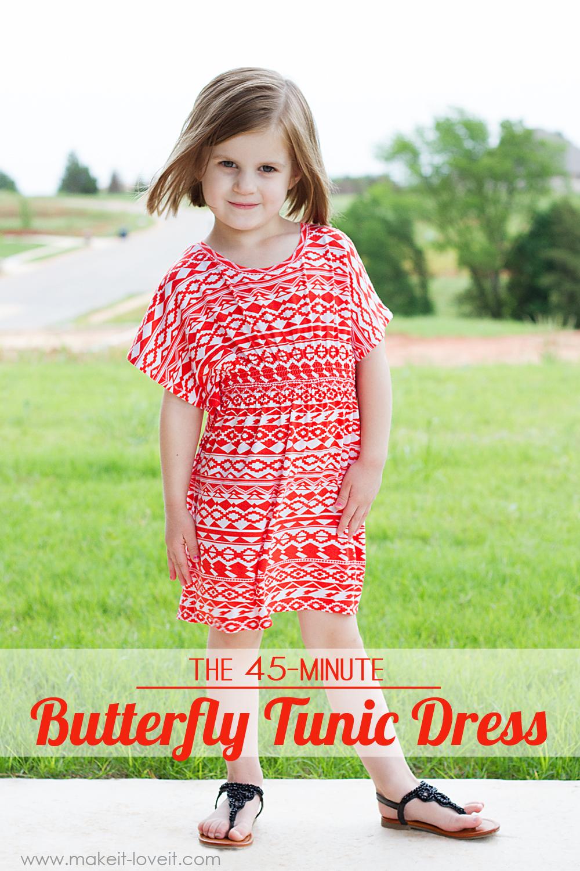 45-minute Butterfly Tunic DRESS from Make it & Love It
