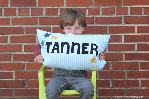 DIY KIDS NAME PILLOW from Haberdashery Fun