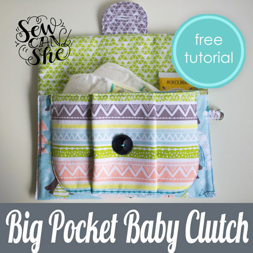 Big Pocket Baby Clutch - sewing pattern.