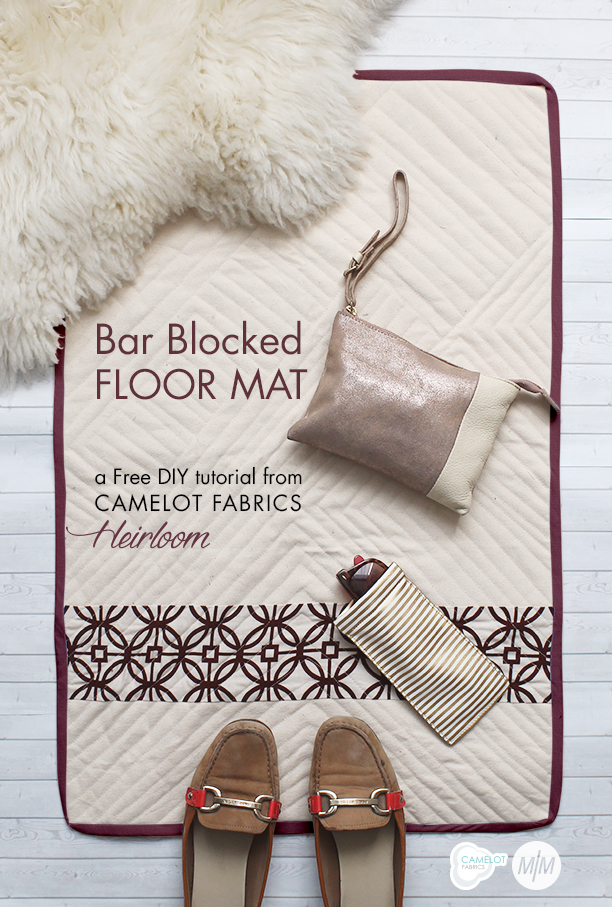 Bar Blocked Floor Mat from Camalot Fabrics