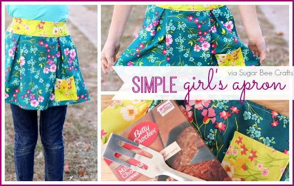 SIMPLE GIRL'S APRON from U Create