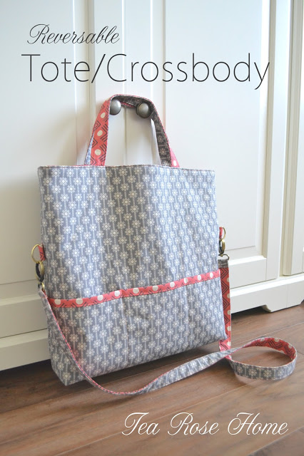 Reversible Cross Body Tote from Tea Rose Home
