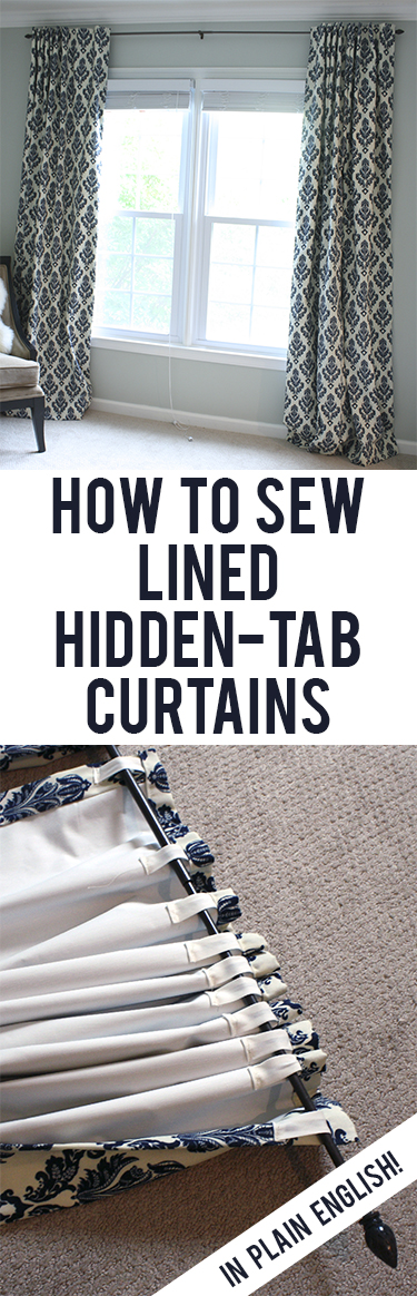 Tutorial: How to Sew Lined Back-Tab Curtains View Along the Way
