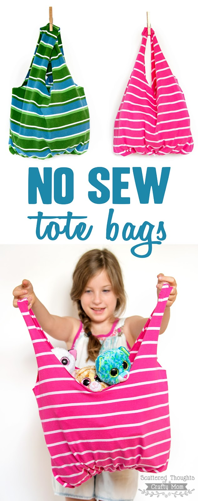 no sew tote bags