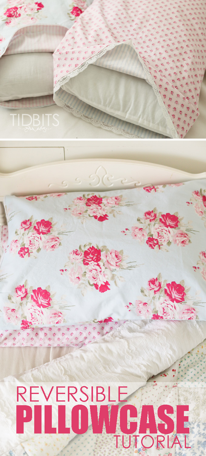 REVERSIBLE PILLOWCASE TUTORIAL from Tidbits