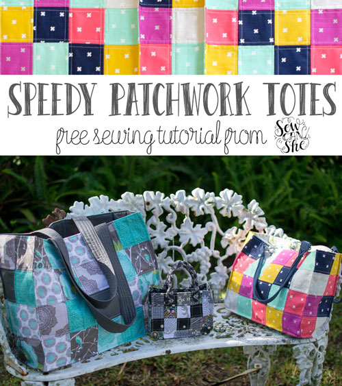 Speedy Patchwork Tote Bags Easy Sewing Tutorial Sewcanshe Free