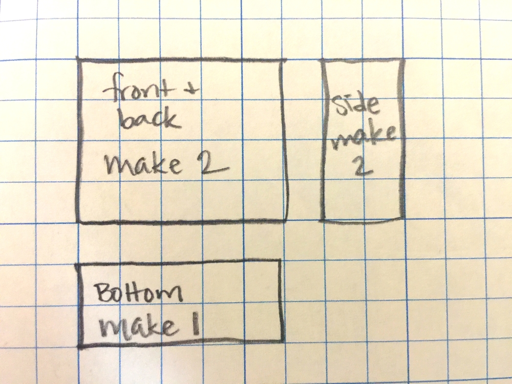 this diagram at left shows how to layout your patchwork squares for the  speedy patchwork totes