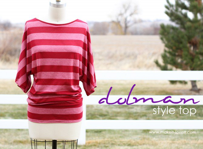 Simple Top Dolman Style with Banded Bottom from Make It & Love It