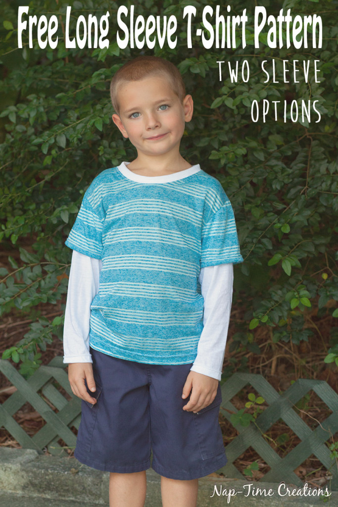 Boys Long Sleeve T-Shirt Free Pattern from Nap time creations