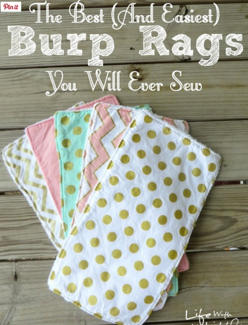 Easy Burp Cloths from Life with my Littles