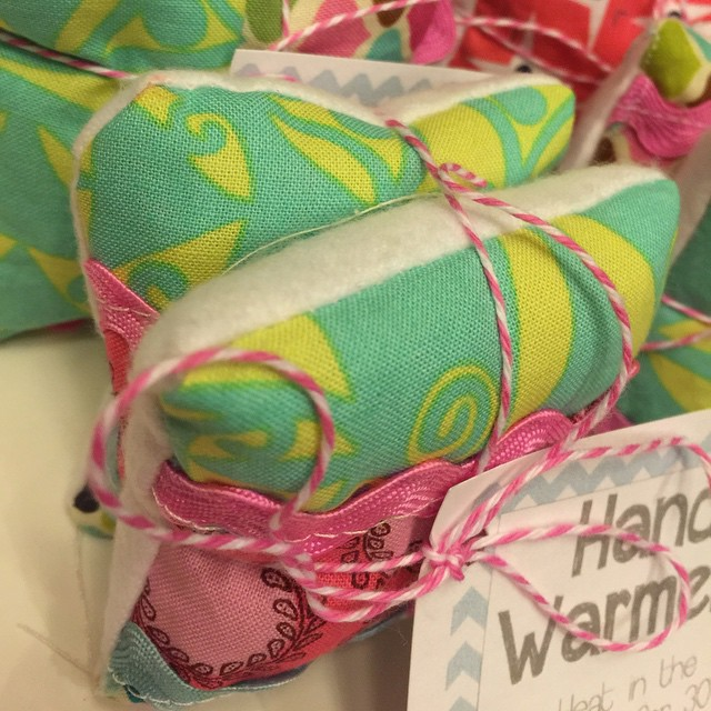 Spearmint Rice Bag Hand Warmers Tutorial from a vision to remember
