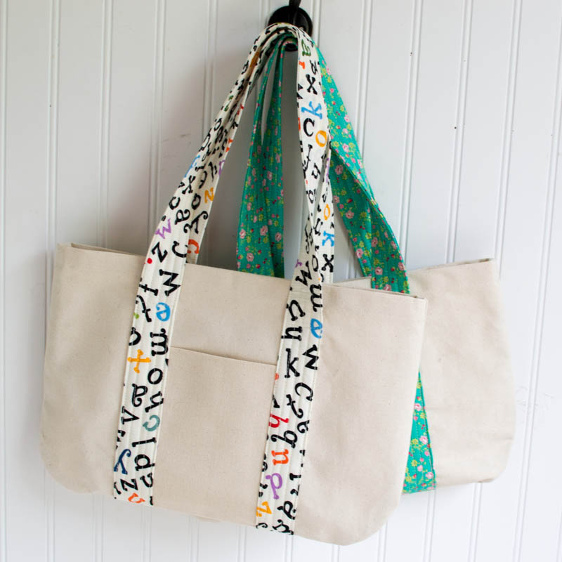 Free Canvas Book Bag Sewing Tutorial! — SewCanShe | Free Daily ...
