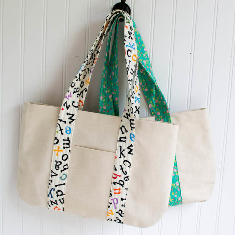 Free Canvas Book Bag Sewing Tutorial! — SewCanShe | Free Sewing ...