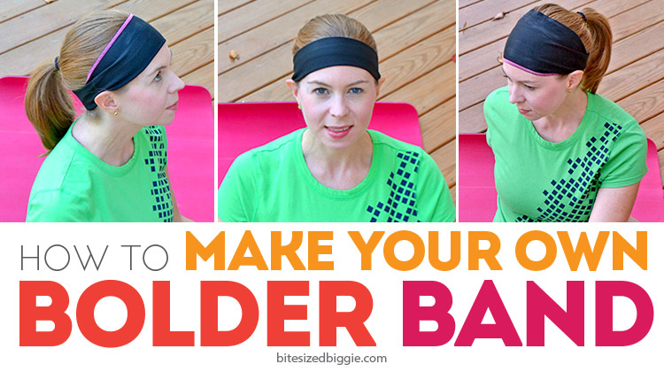 DIY Your Own Bolder Band Headband from Bite Sized Biggie