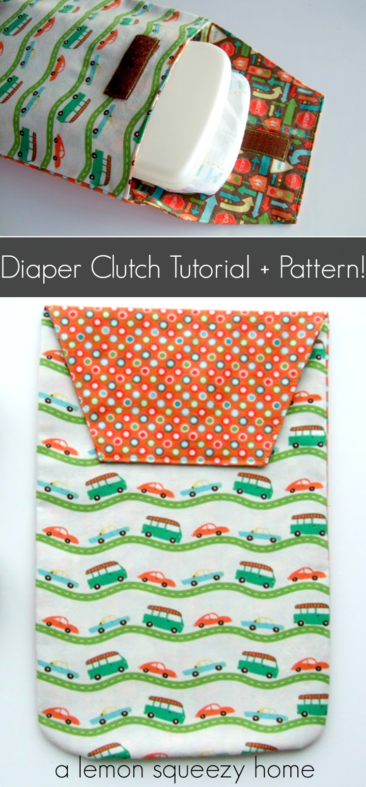 Diaper Clutch from Lemon Squeezy Home