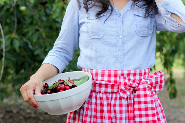 SIMPLE GATHERED HALF APRON TUTORIAL from Delia Creates