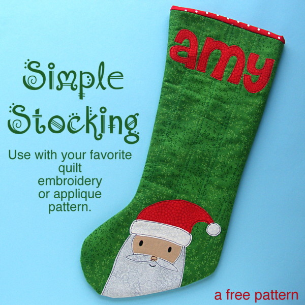 Free Christmas Stocking Pattern from Shiny Happy World